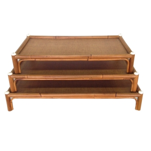riser trays with bone buttons